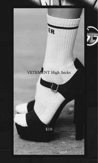 Vetement Inspired High Socks
