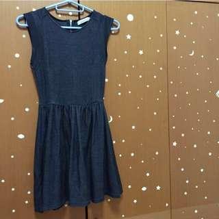 Pull&Bear Washed Black Denim Look Dress