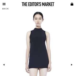 The Editor's Market Black High Neck 'Nikko' Dress