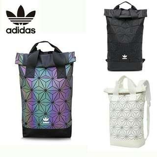 3488b3875e4b Original Adidas X Issey Miyake 3D Urban Mesh Roll Up Black Backpack Leather  bag CNYRED