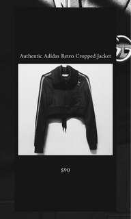 Authentic Adidas Retro Cropped Jacket