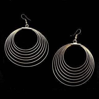Brand new gold spiral earring