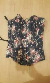 Bnew floral corset bustier