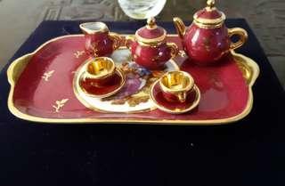 Limoge Vintage Miniature Tea Set - 10 pieces