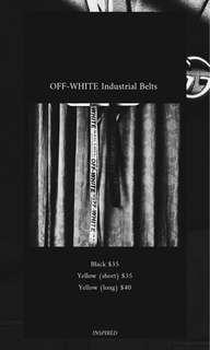 Off-White Industrial Belts