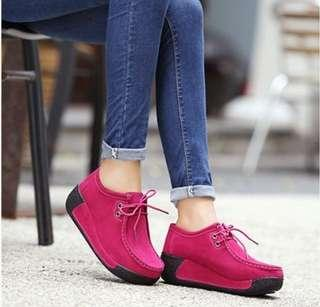 Women Suede Leather Platform Shoes