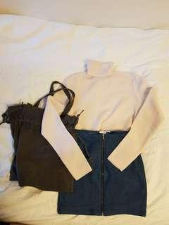 Cute Jean Skirt S
