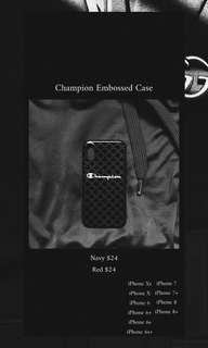 Embossed Champion Case iPhone Xs,X,8+,8,7+,7,6s+,6s,6+,6