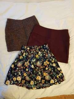 3 XS & S Skirts