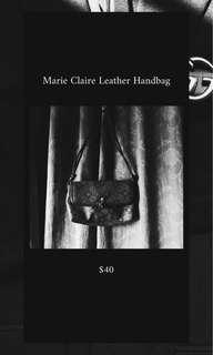 Marie Claire Branded Leather Hangbag
