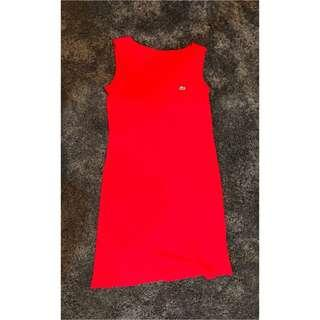 Lacoste red sleeveless dress #cnyred