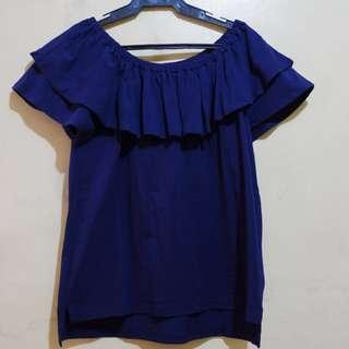 Lalu by iora Navy blue Blouse