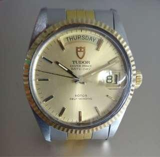 Tudor 94613 Oyster Prince Date-Day with Cert.