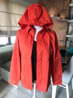 Orange water-repellant jacket
