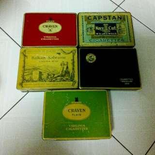 Mixed Cigarettes Square Tins Vintage 2