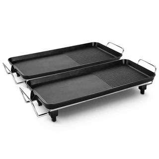 SOGA 2X Electric BBQ Grill Teppanyaki Plate Non-Stick Surface Hot Plate Kitchen 6-8 Person