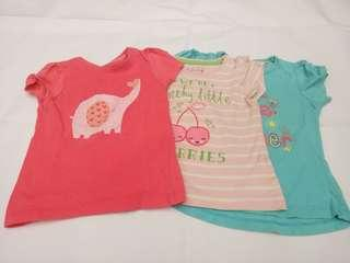 Baby girl tops 3 pc set