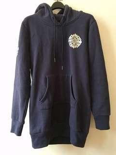 深藍色 長版衛衣 Navy hoodie