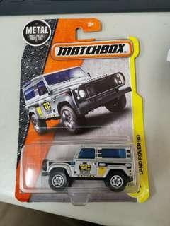 Matchbox Land Rover 90 Silver jeep truck car