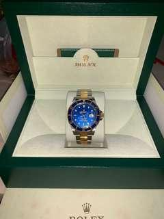 Rolex Submariner half gold blue 16613 2009
