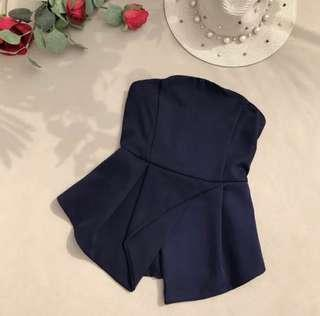 BNIB Navy Blue Tube Top