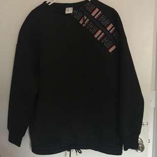 P.E oversized zipper jumper