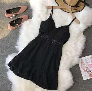 BNIB Black Crochet Dress