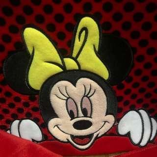 Sarung jok mobil full set 17 in 1 Khusus Agya / Ayla Minnie mouse polkadot merah