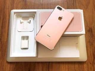Iphone 7+ 128gb rosegold legit FU