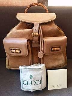 Authentic GUCCI Suede backpack vintage