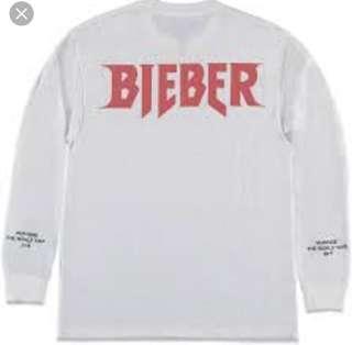 Justin Bieber Purpose Tour Merch Long sleeve size small