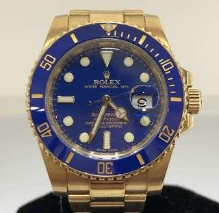 Rolex Yellow Gold Submariner 116618LB