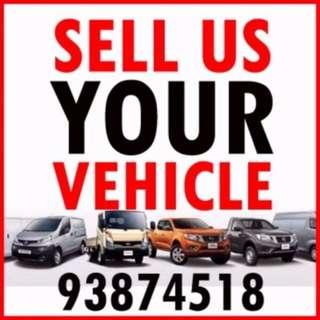 $$$ WE BUY AND SELL ALL KIND OF Vehicle