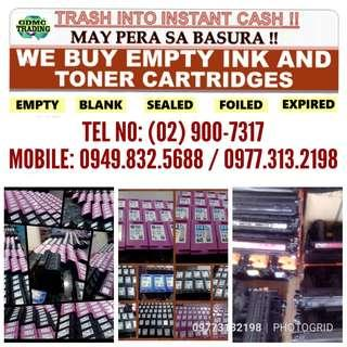 BUYER OF BNEW EXPIRED AND EMPTY INK AND TONER CARTRIDGES