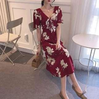 Blossom Floral Red Dress