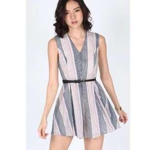 Love bonito Pythia Striped Playsuit