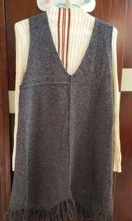 全新  針織上衣+背心裙(1套2件)