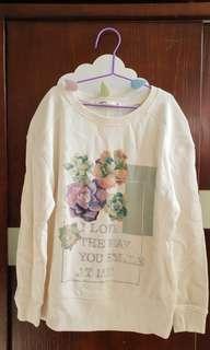 簡潔花花白色上衣