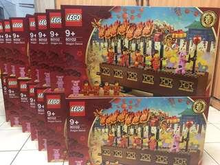 (Left 2) Lego 80102 dragon dance ( Chinese New Year)
