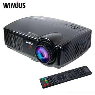 🚚 WIMIUS T4 3200 Lumens LED Projector HD 1280x800 Resolution Support 1080P HDMI/AV/VGA/USB Home Cinema Theater Video Projector