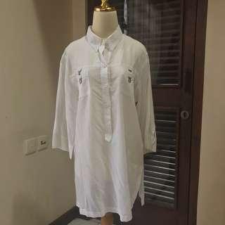White Midi Shirt