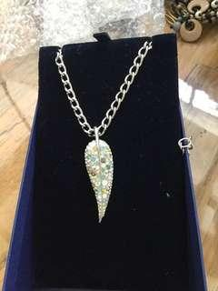 Swarovski leaf shaped necklace