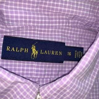 Authentic Polo Ralph Lauren button front dress shirt