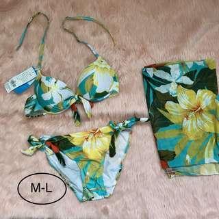3 piece floral swimsuit