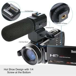 🚚 Besteker Wifi Camcorder Full HD 1080P 30FPS Portable Digital Video Camera NEW