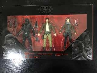 Star Wars Black Series Rogue one 3 pack Death Trooper Cassian Jyn. Price Revised!