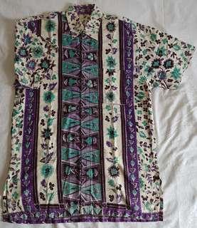 Batik bunga ungu
