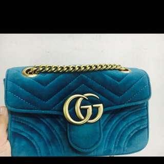 Gucci Marmont Velvet (Blue)