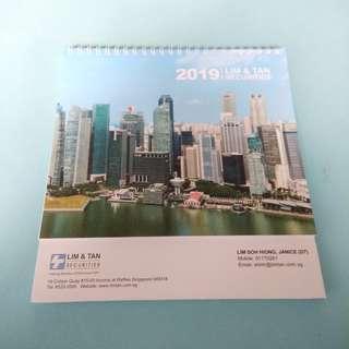 Lim & Tan Securities Desktop Calendar 2019