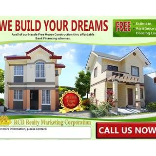 Avail our Hassle Free House Construction thru affordable Bank Financing schemes and let your DREAM HOME come true!